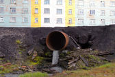 Pipe dumping water — Stock fotografie
