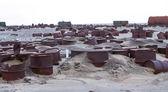 Drums op arctische kust — Stockfoto