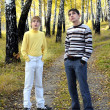 Teenage boys outdoor — Stock Photo