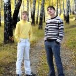 Teenage boys outdoor — Stock Photo #12142896