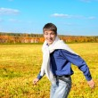 Young man running — Stock Photo