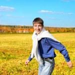 Young man running — Stock Photo