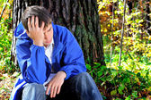 Sorrowful young man — Stock Photo