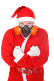 Santa claus in gas mask — Stock Photo