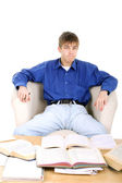Student sit in chair — Foto de Stock