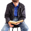Student reading book — Stock Photo