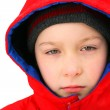 Sad Boy in the Winter — Stock Photo