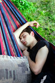 Young Man Sleeping — Stock Photo