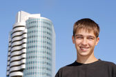 Lycklig tonåring — Stockfoto