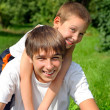 Happy Brothers Portrait - Stockfoto