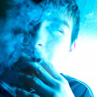 Young Man Smoking — Stock Photo