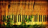 Vintage Broken Piano — Stock Photo