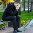 Sad Man At The Park - Stock Photo