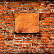 Vintage Wall With Empty Board — Stock Photo