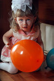 Little Girl Hide and Seek — Stock Photo