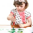 Little Girl Drawing — Stock Photo #24894527