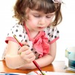 Stock Photo: Little Girl Drawing