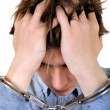 Stock Photo: Troubled Min Handcuffs