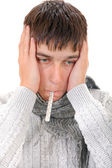 Diseased Young Man — Stock Photo