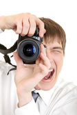 Person Take a Picture with a Camera — Stock Photo