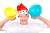 χαρούμενα έφηβος με μπαλόνια — Φωτογραφία Αρχείου