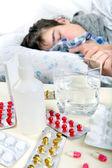 Sick Teenager Sleeps — Stock Photo