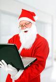 Santa Claus with Laptop — Φωτογραφία Αρχείου