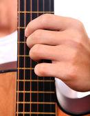 Hand and Guitar closeup — Stock Photo