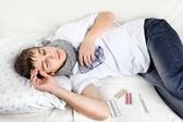 Young Man with Flu — Stock Photo