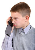Boy talking on Cellphone — Stock Photo