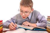 školák psaní — Stock fotografie