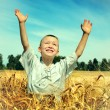 Kid in the Field — Stock Photo