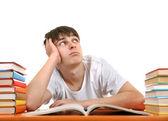 Estudante entediado — Foto Stock