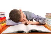 Schoolboy sleeping — Stock Photo