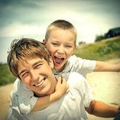Happy Brothers Portrait — Stock Photo