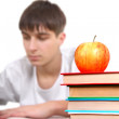 Stock Photo: Apple on Books