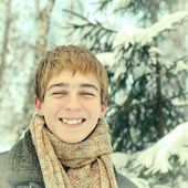 Teenager in Winter — Stock Photo