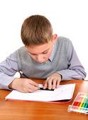 Rapaz é desenho — Foto Stock