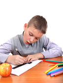 Boy is Drawing — Stock Photo