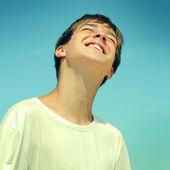 Glücklich teenager — Stockfoto