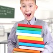 Schoolboy in the Classroom — Stock Photo