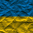 Rumpled Ukrainian Flag — Stock Photo
