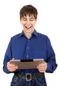 Young Man with Tablet Computer — Stock Photo