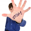 Stock Photo: Stop Palm Gesture