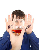 Teenager refuse Alcohol — Stock Photo