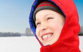 Happy Kid in Winter — Stock Photo