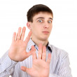 Teenager with refusal gesture — Stock Photo #42848749