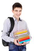 Student s knihy — Stock fotografie