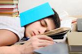 Hard Tired Student — Stock Photo