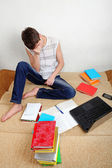 Sad Student at Home — Stock Photo